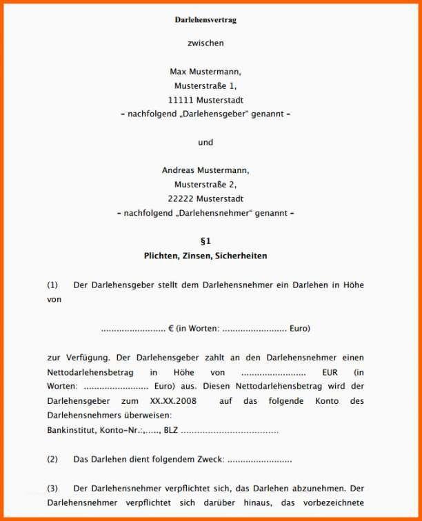 Darlehensvertrag Vorlage Kostenlos In 2020 Briefkopf Vorlage Vertrag Lebenslauf Layout