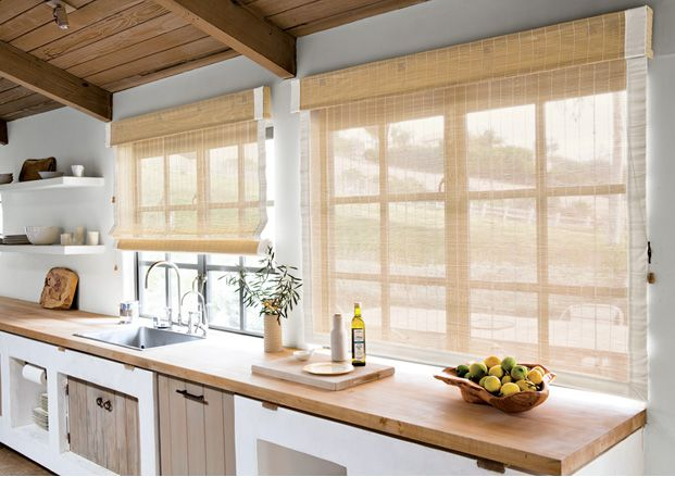 19 best contemporary bamboo shades images on pinterest for Smith and noble bamboo shades