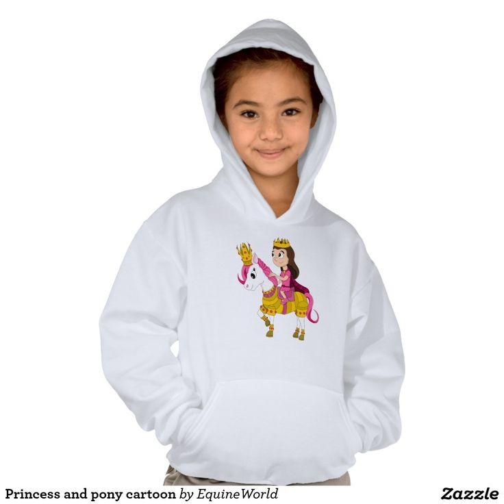 Princess and pony cartoon hoody