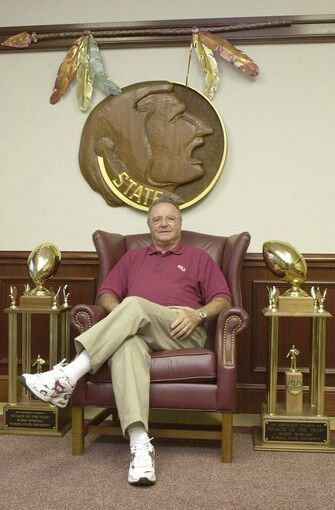Bobby Bowden in his office