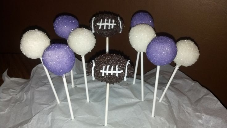 K-State football themed cake pops.  can do basketball too!