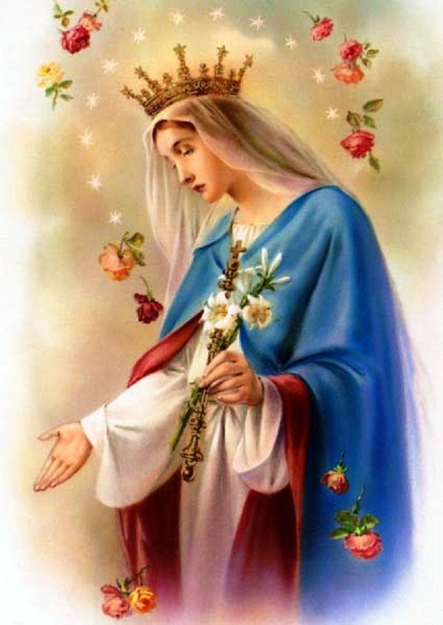 Hail holy mary mother virgin