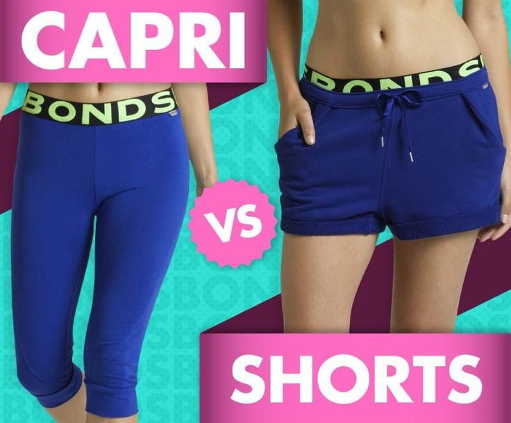 Capri vs Shorts for exercise?