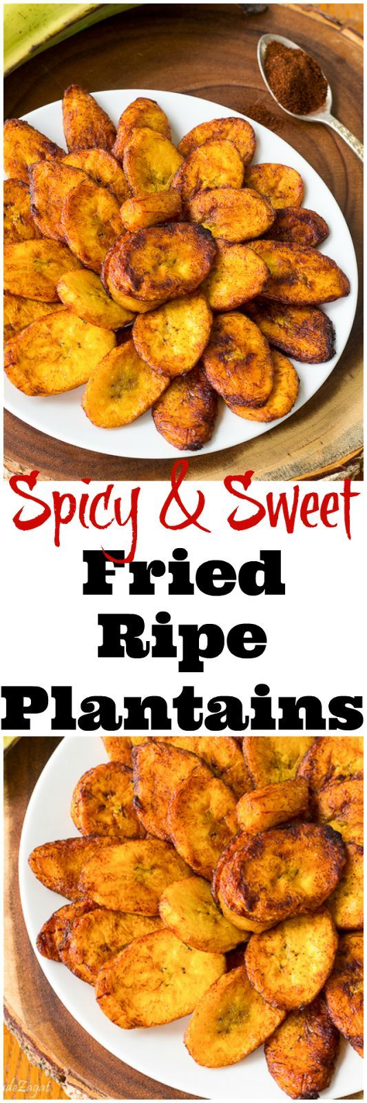 An easy recipe for fried ripe plantains with a sweet yet spicy kick. A great alt...