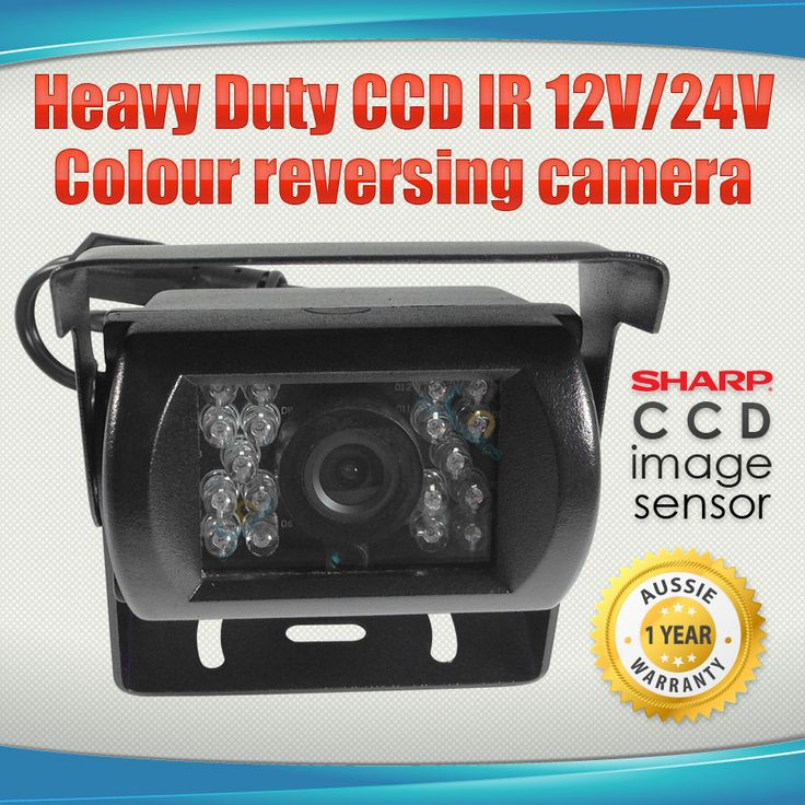 Heavy Duty CCD IR 12V/24V Colour reversing camera BLACK