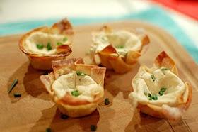 Mini crab rangoons (baked). Gotta try this.