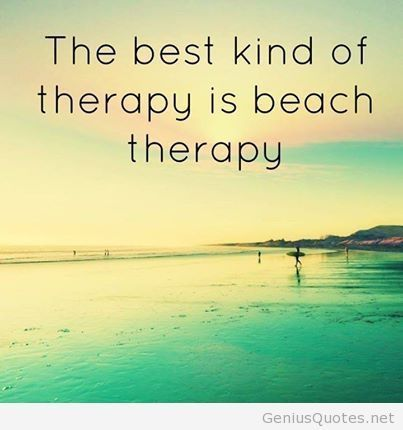Summer therapy quote photo