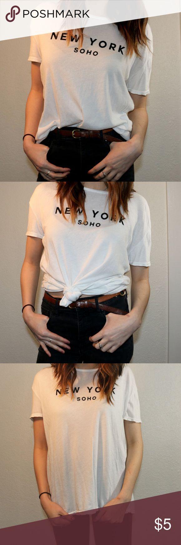 New York Soho Tee Over sized white tee, New York soho PacSun Tops Tees - Short Sleeve