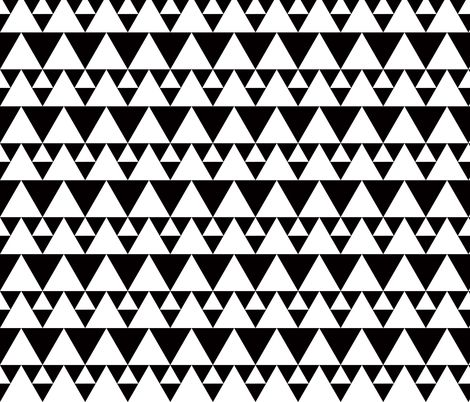 triangles black and white fabric by katarina on spoonflower custom fabric