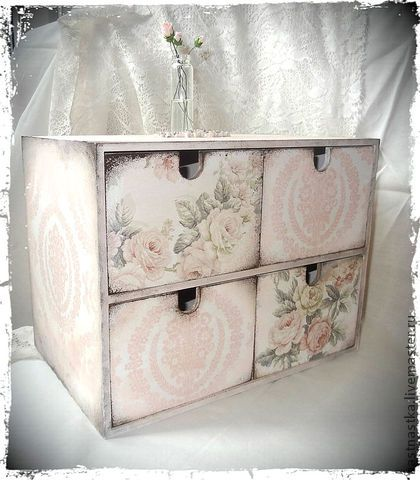 Decoupage storage drawers. #home #decor #DIY