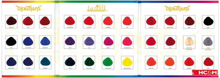 La Rich'e Directions Color Chart. | Color Charts ...