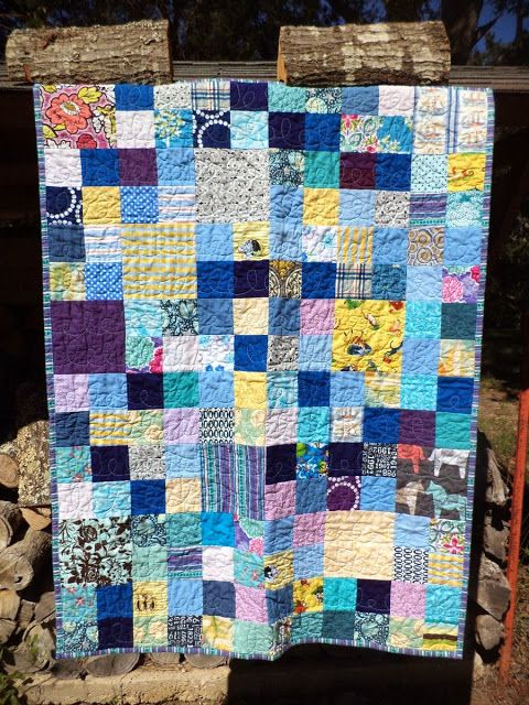 Purple Kool-Aid: Scrap Quilt Finish