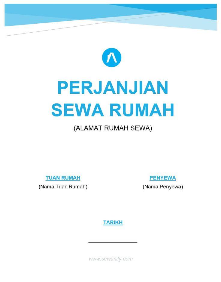 contoh surat perjanjian sewa rumah | Sewanify