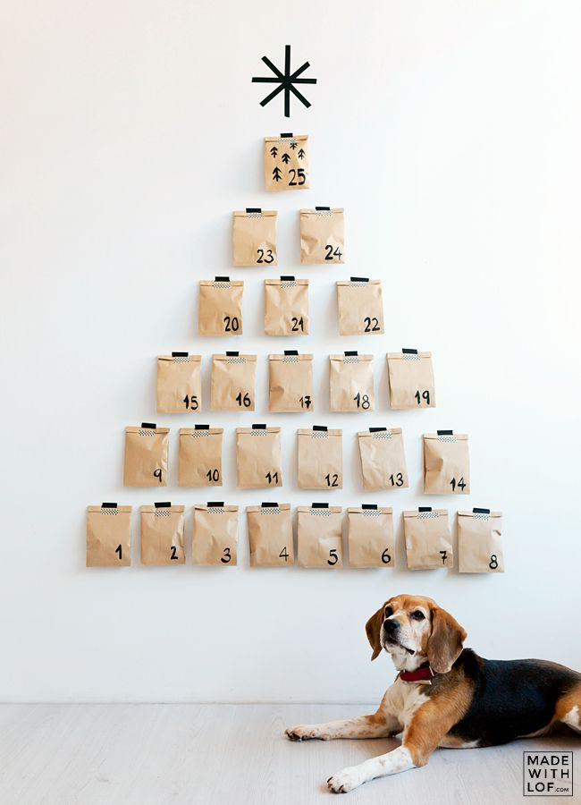 Modern take on the Advent Calendar - something very nice to get the 'little ones' involved in around the festive season