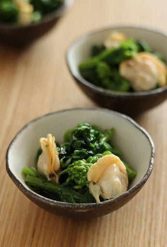 はまぐりと菜の花のおひたし by ぴくるすさん | レシピブログ - 料理 ...