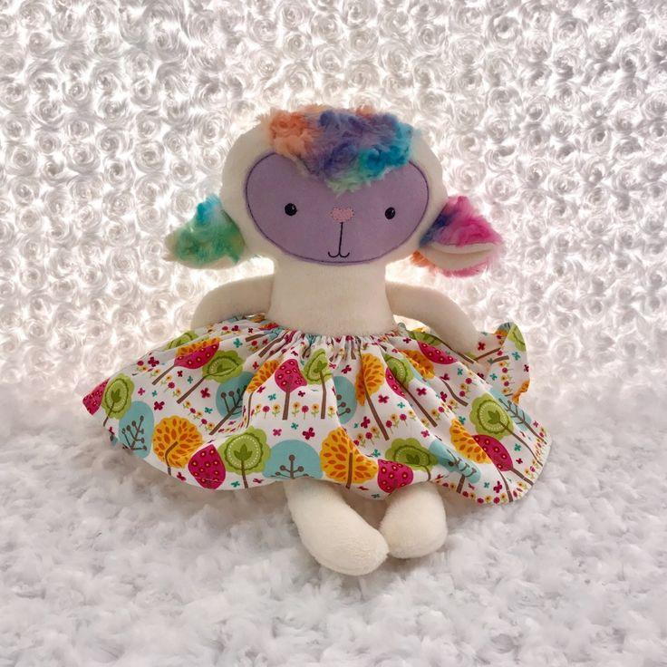 Rainbow dress up spring lamb