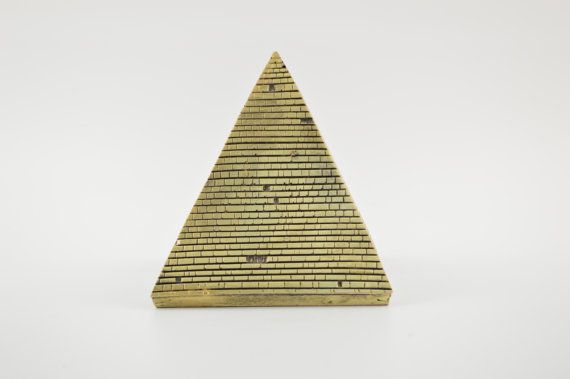Egyptian pyramid statue / Bronze plated by CraftsAndMetal on Etsy