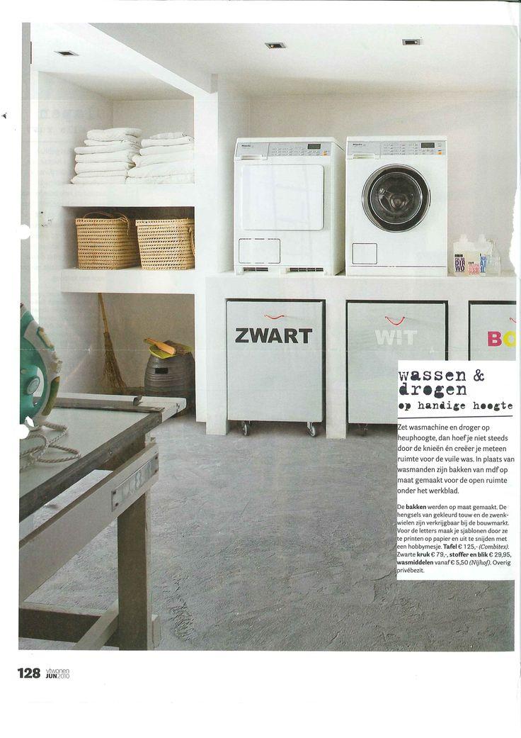Organisatie van washoek in de bijkeuken