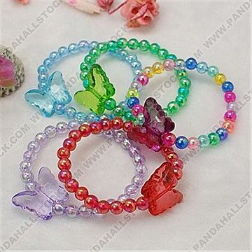 Transparent Acrylic Bracelets for Children's Day Gift, Kids Jewelry, Mixed Color