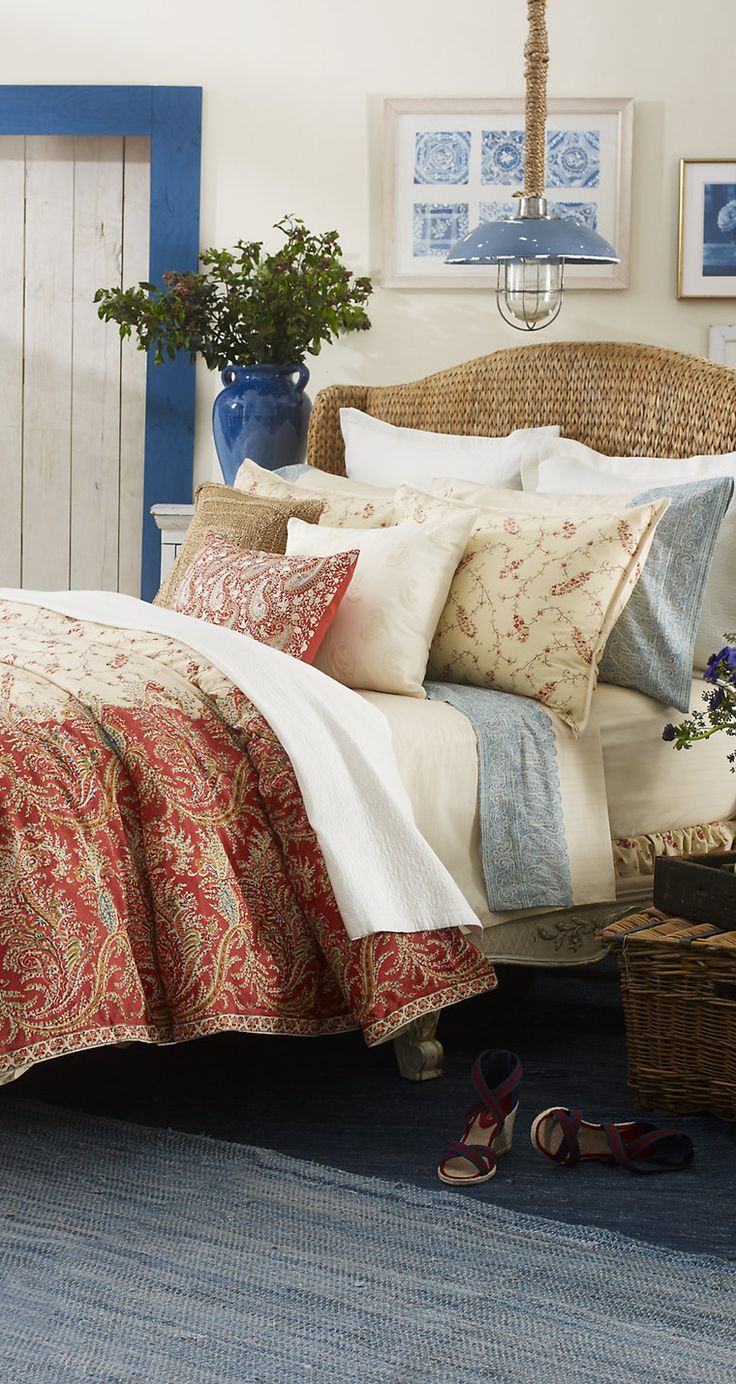 #Ralph #Lauren Mirabeau: Ralph Lauren, Bedspreadmirabeau Paisley, Paisley Beds, Lauren Ralph, Lauren Mirabeau, Paisley Collection, Beds Collection, Bedrooms Decor, Bedrooms Photo