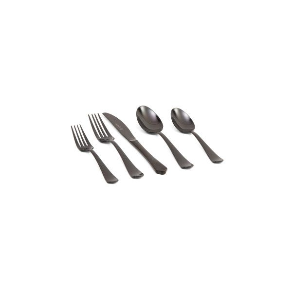 20pc Stainless Steel Flatware Set ($50) ❤ liked on Polyvore featuring home, kitchen & dining, flatware, stainless teaspoons, stainless steel tea spoons, stainless steel flatware, stainless steel silverware and stainless steel silverware set