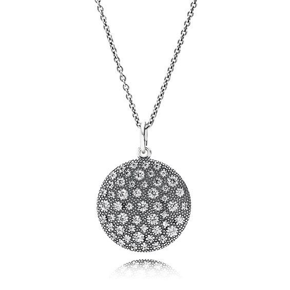 28 best pandora necklaces pendants images on pinterest collar de pendant pandora starry night cosmic stars set with clear cubic zirconias on chain adjustable 90cm aloadofball Image collections