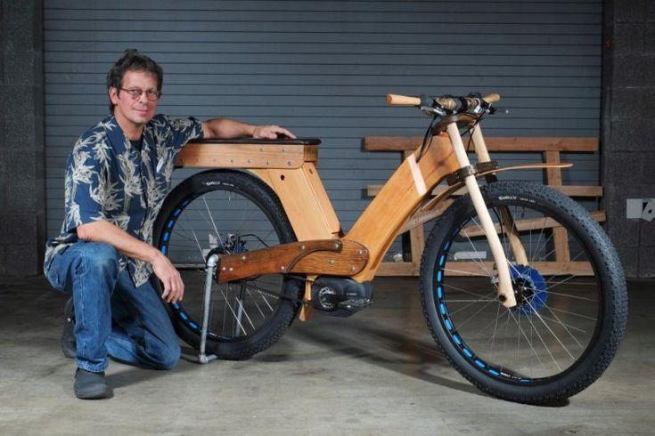 Custom electric bike using cutting edge; gates belt instead of chain, Bosch bottom bracket motor, Nuvinci infinite 'geared' hub.