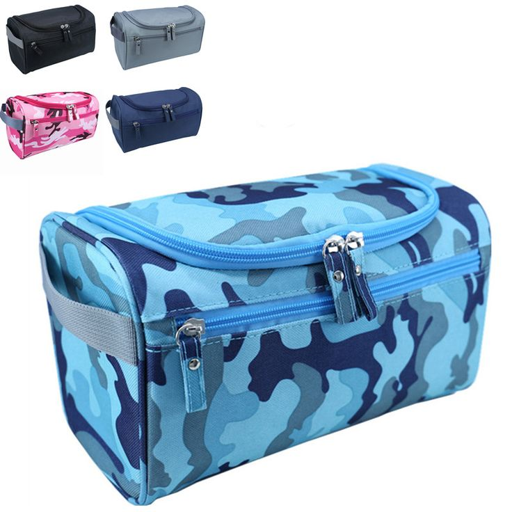 Men Waterproof Hanging Makeup Bag Nylon Travel Organizer Cosmetic Bag for Women Large Necessaries Make Up Case Wash Toiletry Bag