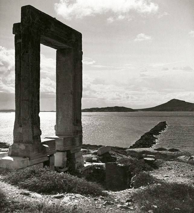 1938 ~ Temple of Apollo (Portara) in Naxos (photo by Herbert List)