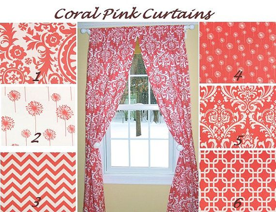 best 25+ coral curtains ideas on pinterest   gray coral bedroom