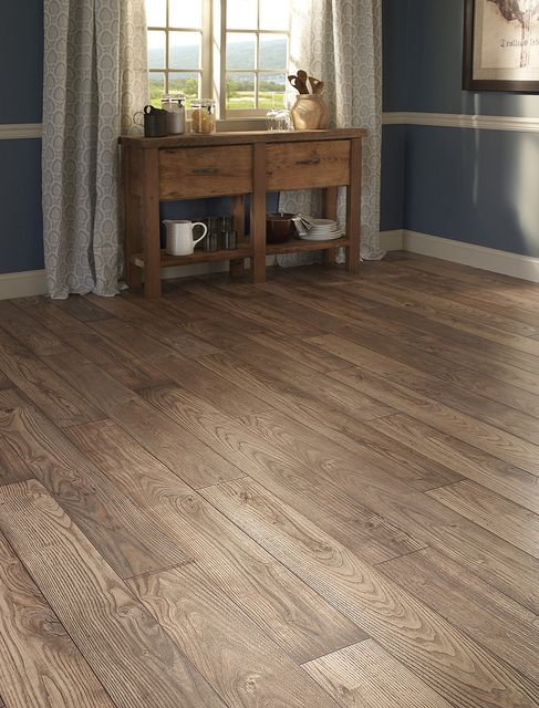 #Laminate Chestnut Hill from Mannington's Restoration Collection.  Look & feel of real wood with lower maintenance