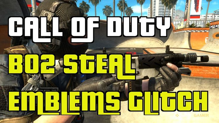 Call Of Duty Black Ops 2 How to Steal/Copy Other players Emblem  Glitch ...