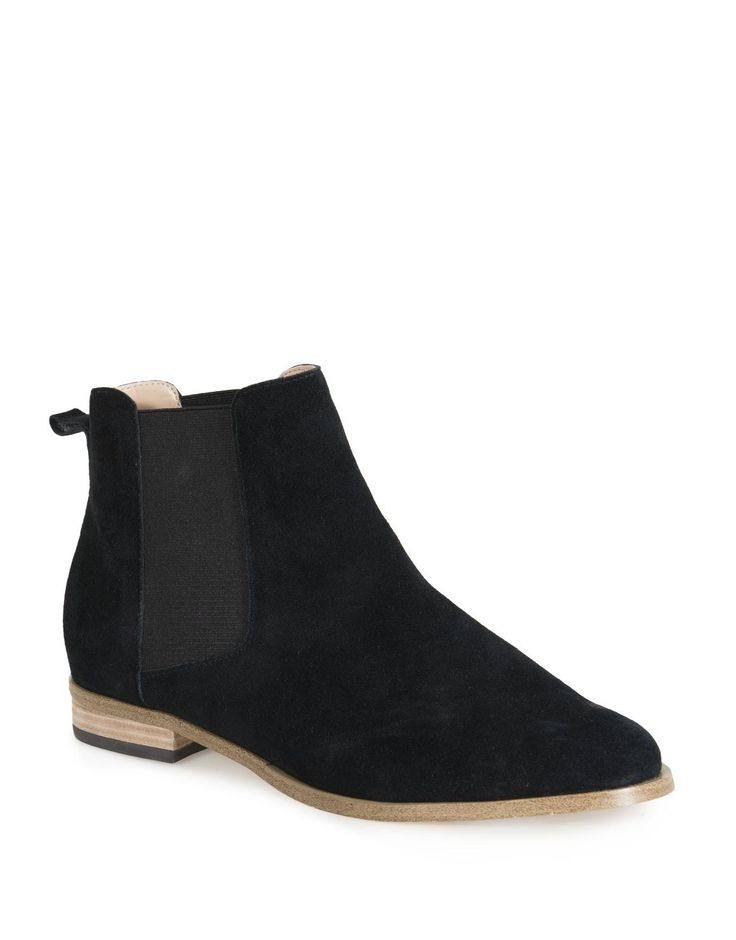 Suede Stretch Ankle Boots