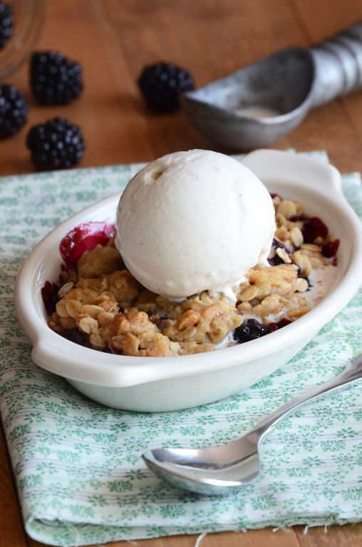 blackberry crisp for one-great way to have a dessert and not have leftovers!