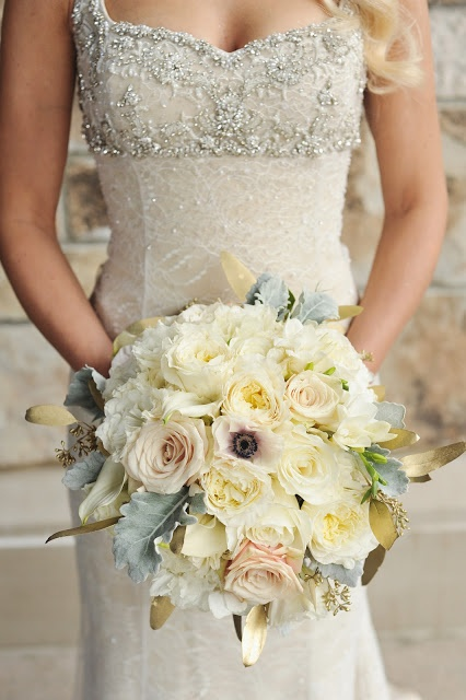 Branches Event Floral Company: Metallic Winter Wedding-Utah Wedding Florist