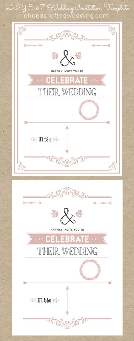 Best 25 free wedding invitation templates ideas on pinterest for Diy rustic chic wedding invitations free printable template ahandcraftedwedding
