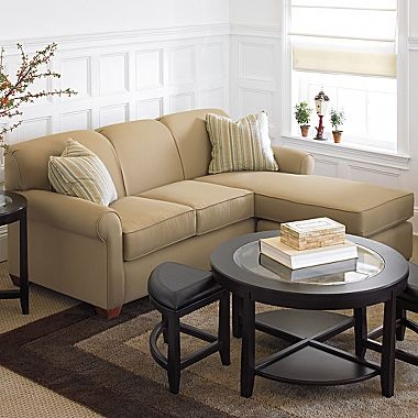 """Sleepy Sleeper or Stationary Sofa with Chaise - jcpenney 83"""" Wide $1,100"""
