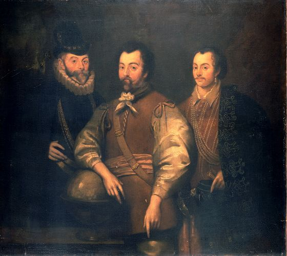 Sir Walter Raleigh, Sir John Hawkins and Sir Francis Drake Queen Elizabeth 1's privateers, or pirates, dependent on your point of view