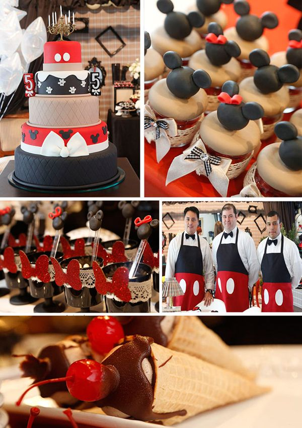 Vintage Mickey and Minnie Mouse Party with LOTS of Ideas via Kara's Party Ideas | Kara'sPartyIdeas.com #vintage #mickey #and #minnie #mouse #party