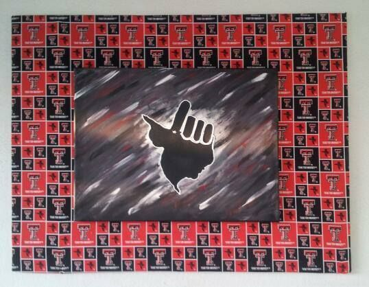Texas Tech wall art for man cave. TTU fabric wrapped around foam ...