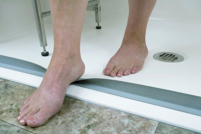 Waterstopper Collapsible T Shaped Shower Threshold Self