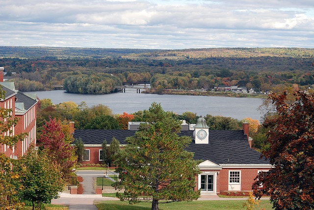 Great view of the St. John River from the quad at the University of New Brunswick, Fredericton, NB, Canada
