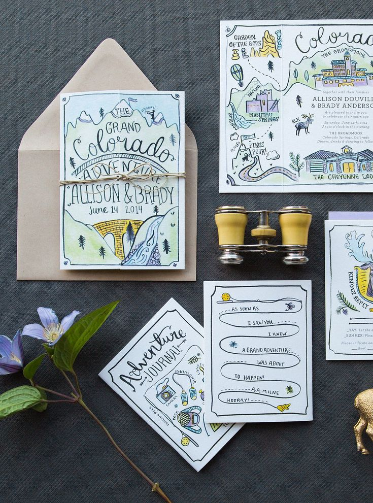 Oh So Beautiful Paper Illustrated Adventure Driven Wedding
