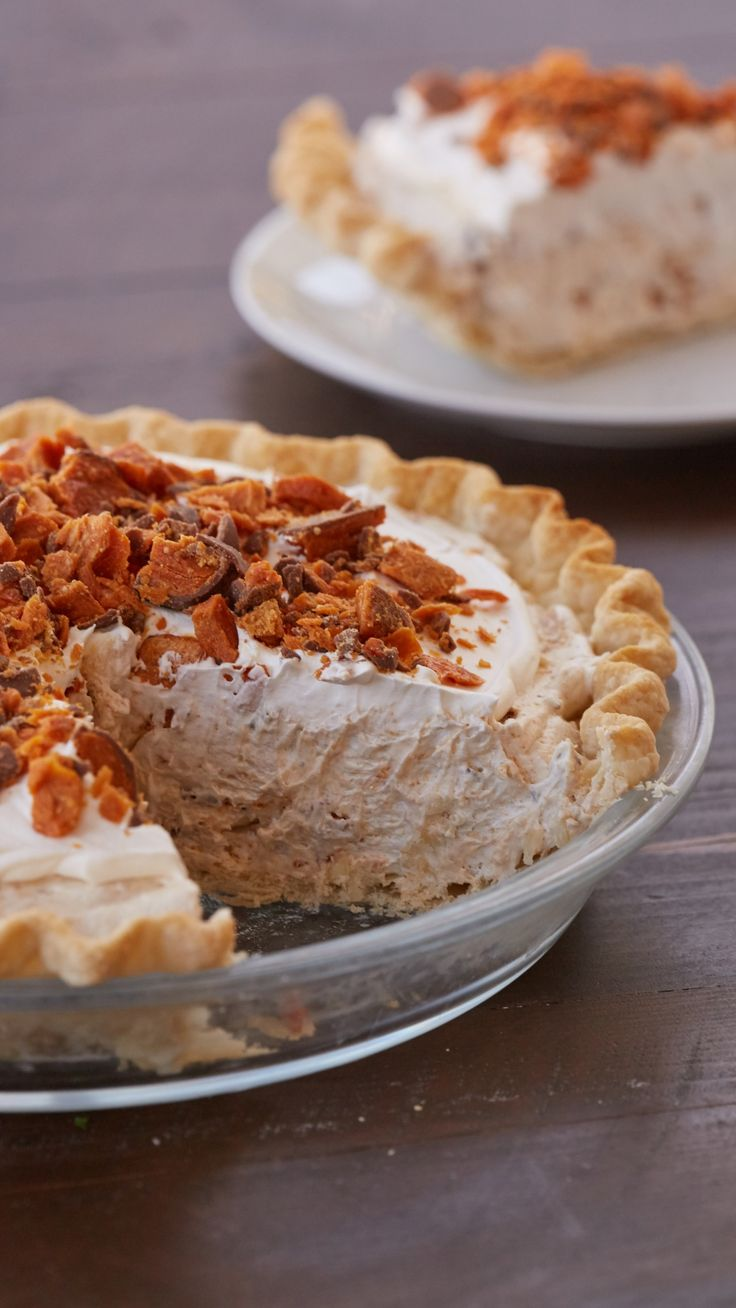 Easy Butterfinger Pie - An over-the-top ode to your favorite candy bar can be yours with a handful of simple ingredients and a few minutes of prep.