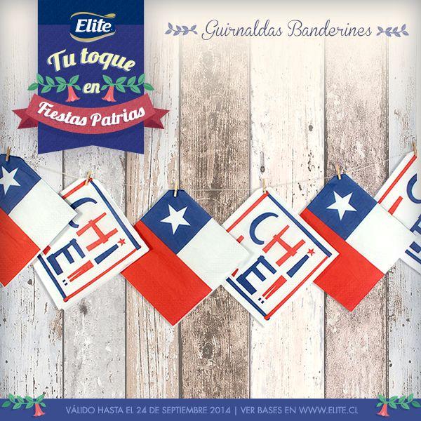 Banderines con servilletas ELITE FIESTAS PATRIAS 2014