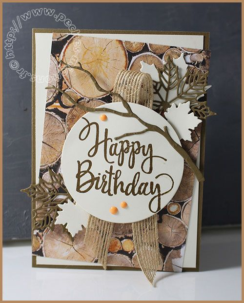 Carte Scrap # 852 - Stampin'up! - SU! -