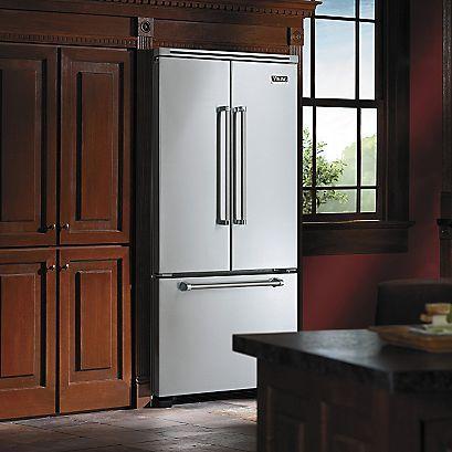 Double bottom mount freezer stainless steel