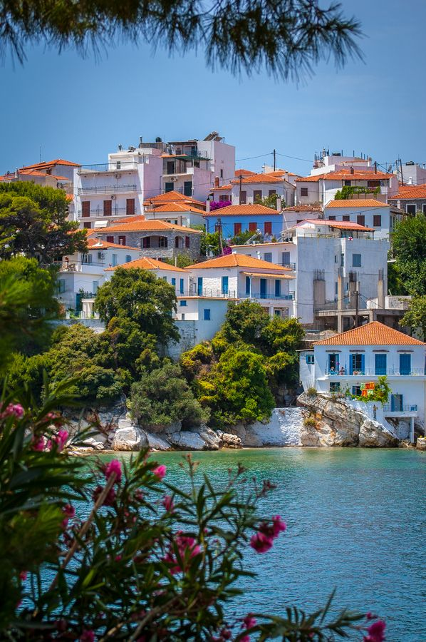 Skiathos Town, Skiathos, Greece  I am in love with every picture I have ever seen of Greece. This is a fact.