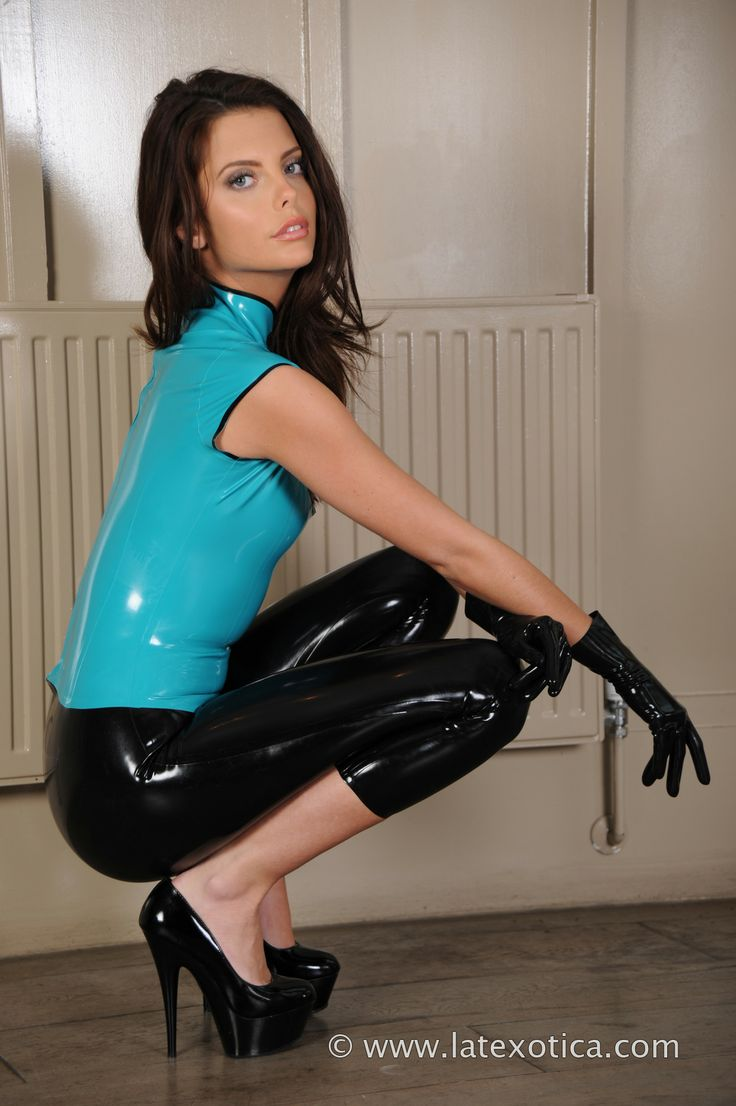 pants latex Lara black hot