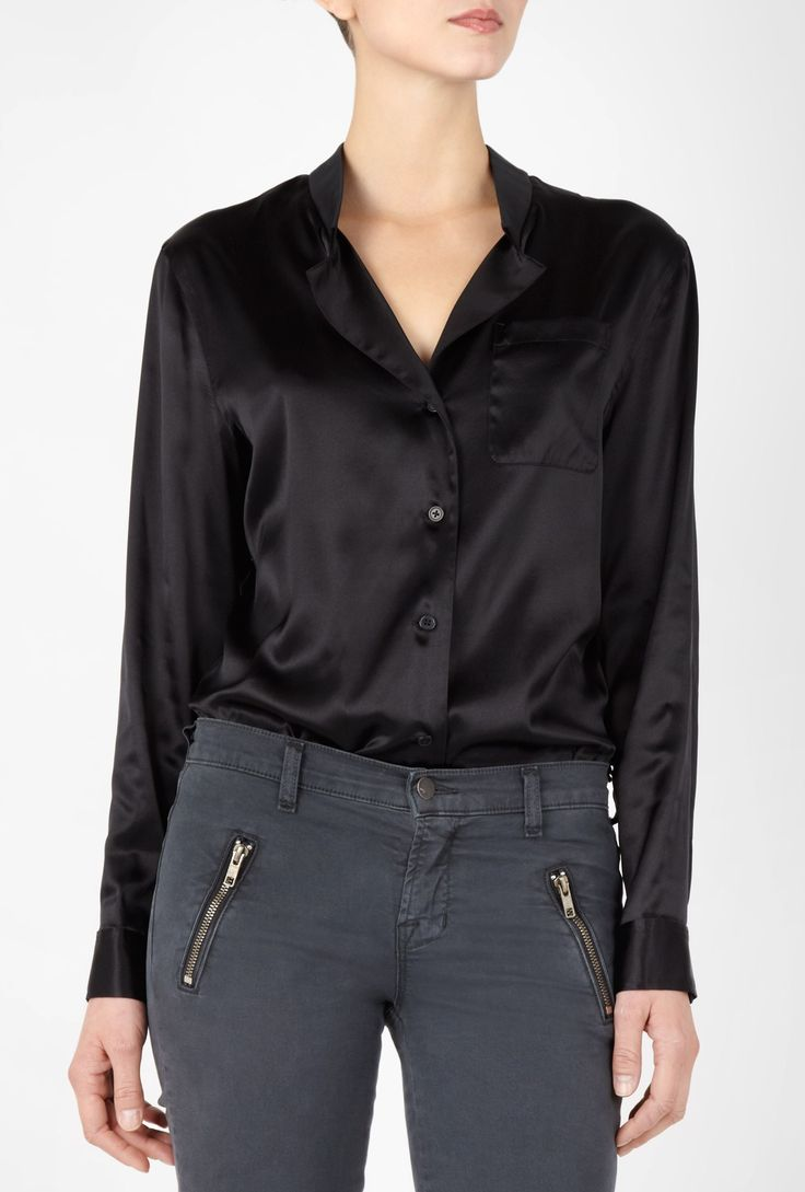 17 Best ideas about Black Silk Blouse on Pinterest | Classic ...